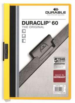 Desky s klipem DURACLIP 60, A4 žlutá