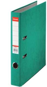 Pákový pořadač Esselte - A4, kartonový, hřbet 5 cm, zelená