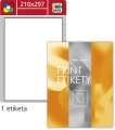 Samolepicí barevné etikety SK Label - mix barev, 210 x 297 mm, 100 ks