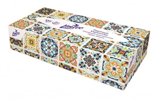 Papírové kapesníčky Linteo Satin - vkrabičce, bílé, 100 ks
