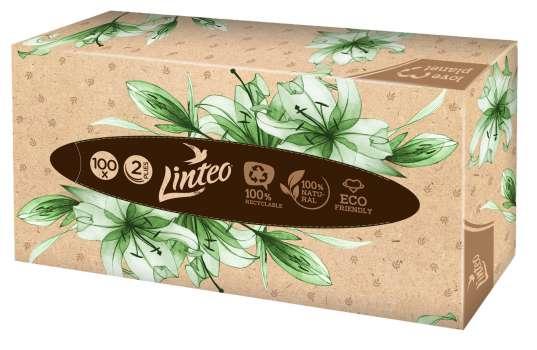Papírové kapesníčky v krabičce Linteo - 2vrstvé, 100 ks
