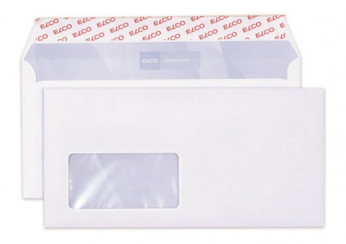 Obálky Elco - C6/5, samolepicí s krycí páskou, s okénkem vlevo, 200 ks