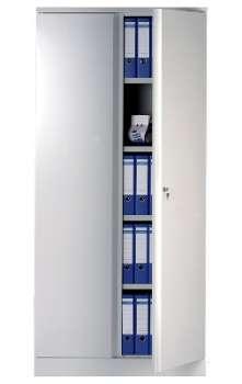 Kovová skříň RS PRO - uzamykatelná, policová, šedá, 90 x 196,8 cm
