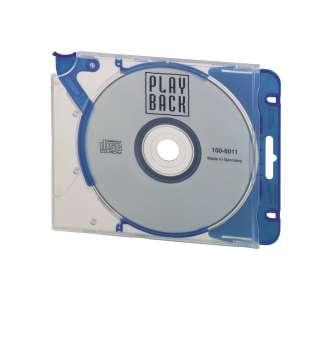 Plastový obal na CD/DVD Durable QuickFlip - s klipem, transparentní/modrá