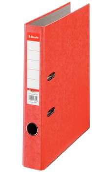 Pákový pořadač Esselte - A4, kartonový, hřbet 5 cm, červený