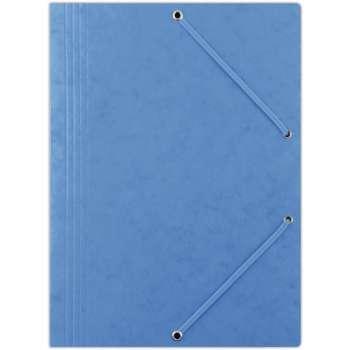 Prešpánové desky s gumičkou A4, modrá