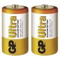 Baterie GP Ultra Alkaline R20, 1,5 V typ D, 2 ks