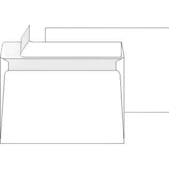 Obálky C4 samolepicí - krycí páska bílé 250 ks