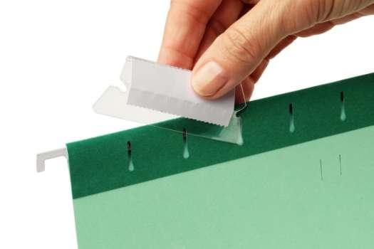 Náhradní rozlišovače plastové pro závěsné desky, 25 ks