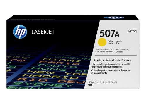 Toner HP CE402A/507A - žlutý