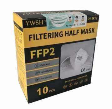 Respirátor FFP2 YWSH, baleno 10ks v krabičce