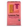 Ovocný čaj London Tea- broskev a rebarbora, Fairtrade, 20x 2g