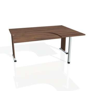 Psací stůl Hobis PROXY PE 60 levý, ořech/ořech