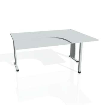 Psací stůl Hobis PROXY PE 60 levý, šedá/šedá