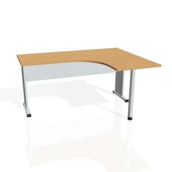 Psací stůl Hobis PROXY PE 60 levý, buk/šedá
