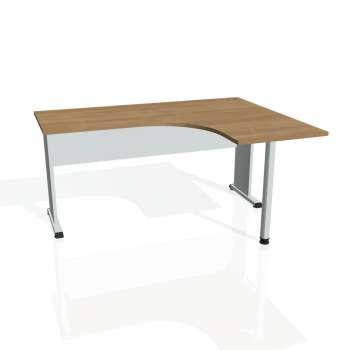 Psací stůl Hobis PROXY PE 60 levý, višeň/šedá