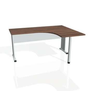 Psací stůl Hobis PROXY PE 60 levý, ořech/šedá