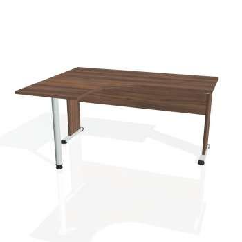 Psací stůl Hobis PROXY PE 60 pravý, ořech/ořech
