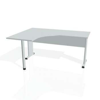 Psací stůl Hobis PROXY PE 60 pravý, šedá/šedá