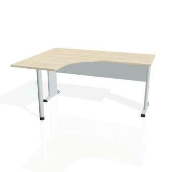 Psací stůl Hobis PROXY PE 60 pravý, akát/šedá