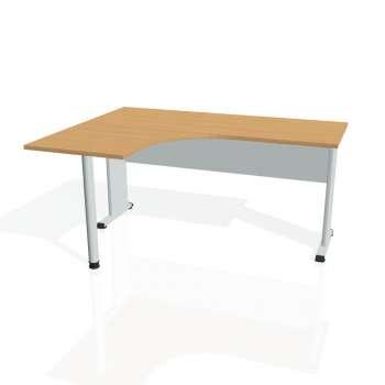 Psací stůl Hobis PROXY PE 60 pravý, buk/šedá