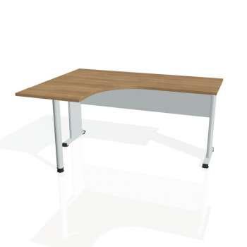 Psací stůl Hobis PROXY PE 60 pravý, višeň/šedá