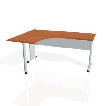 Psací stůl Hobis PROXY PE 60 pravý, třešeň/šedá