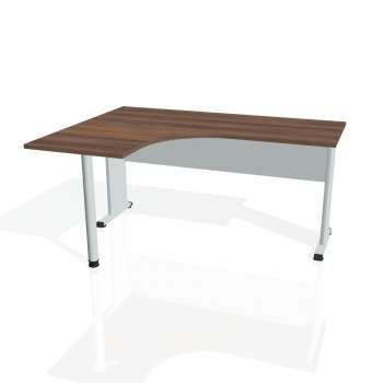 Psací stůl Hobis PROXY PE 60 pravý, ořech/šedá
