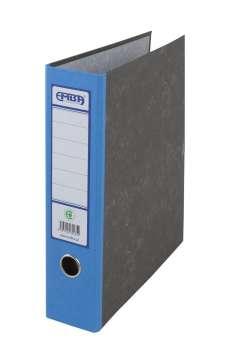 Archivační kapsový pořadač Emba - A4, kartonový, modrý hřbet 7,5 cm, mramorovaný