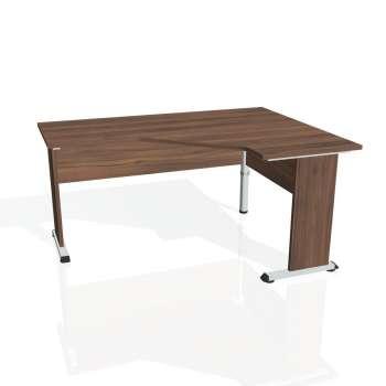 Psací stůl Hobis PROXY PEV 60 levý, ořech/ořech