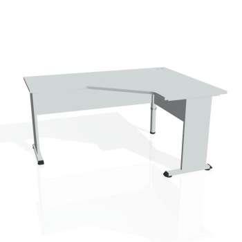 Psací stůl Hobis PROXY PEV 60 levý, šedá/šedá