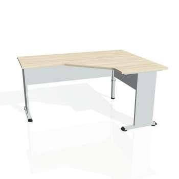 Psací stůl Hobis PROXY PEV 60 levý, akát/šedá