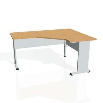 Psací stůl Hobis PROXY PEV 60 levý, buk/šedá