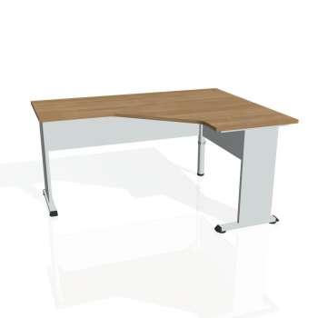 Psací stůl Hobis PROXY PEV 60 levý, višeň/šedá