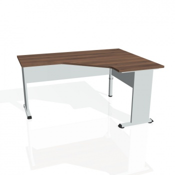 Psací stůl Hobis PROXY PEV 60 levý, ořech/šedá