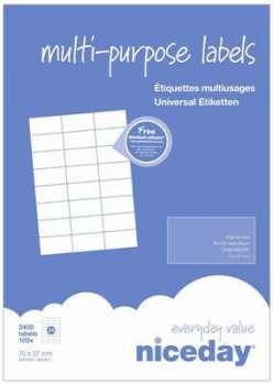 Samolepicí etikety - 70,0 x 37,0 mm