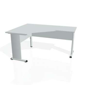 Psací stůl Hobis PROXY PEV 60 pravý, šedá/šedá