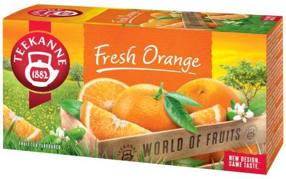 Ovocný čaj Teekanne - Pomeranč, 20 x 2,25 g