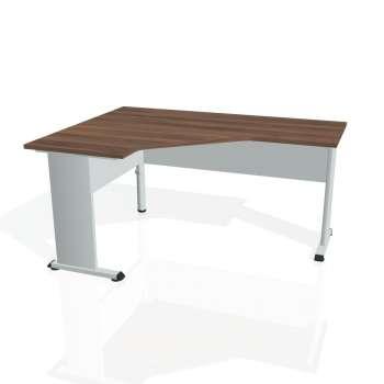 Psací stůl Hobis PROXY PEV 60 pravý, ořech/šedá