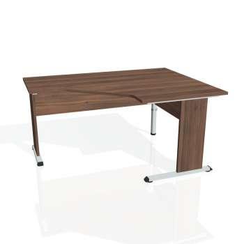 Psací stůl Hobis PROXY PEV 80 levý, ořech/ořech
