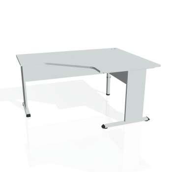 Psací stůl Hobis PROXY PEV 80 levý, šedá/šedá
