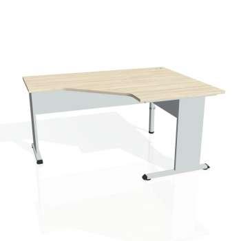 Psací stůl Hobis PROXY PEV 80 levý, akát/šedá