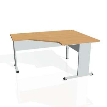 Psací stůl Hobis PROXY PEV 80 levý, buk/šedá