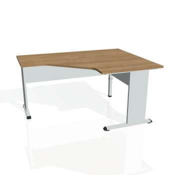 Psací stůl Hobis PROXY PEV 80 levý, višeň/šedá