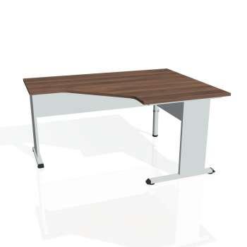 Psací stůl Hobis PROXY PEV 80 levý, ořech/šedá