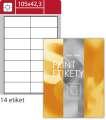 Snímatelné etikety S&K Label - bílé, 105 x 42,3 mm, 1400 ks