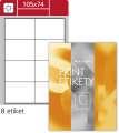 Snímatelné etikety 105,0 x 74,0 mm, 800 ks, bílá