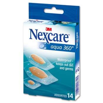 Náplasti - Nexcare Aqua, voděodolné, 14 ks