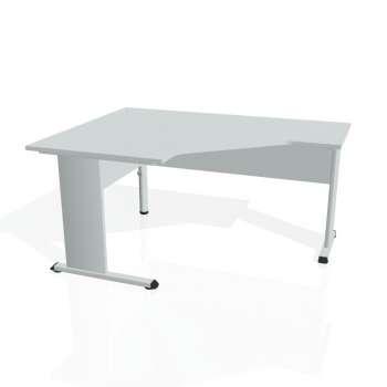 Psací stůl Hobis PROXY PEV 80 pravý, šedá/šedá
