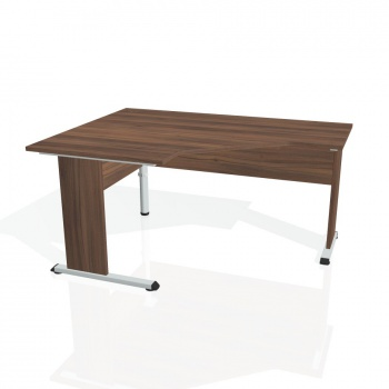 Psací stůl Hobis PROXY PEV 80 pravý, ořech/ořech